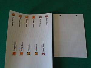 collage des étiquettes à semis sur bristol