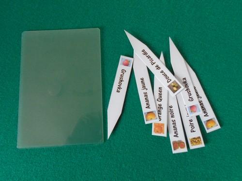étiquettes à semis découpées