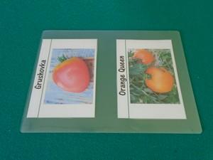 étiquette à tomate prête à être plastifiée