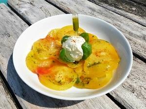 salade tomate ananas jaune