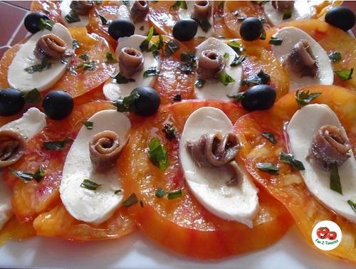 carpaccio AJ pour saison des tomates