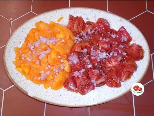 salade OQ et Andine cornue pour saison des tomates