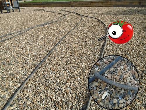 tuyau poreux pour nettoyer le matériel à tomates