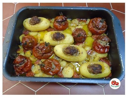 PN farci pour une recette avec des tomates