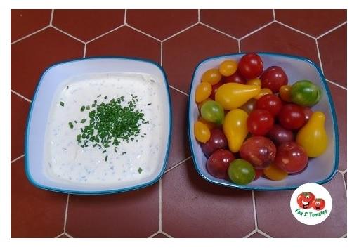 sauce ciboulette tomate apero pour une recette avec des tomates