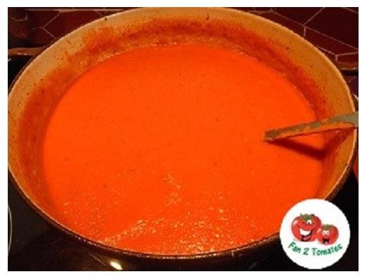 sauce RO pour une recette avec des tomates