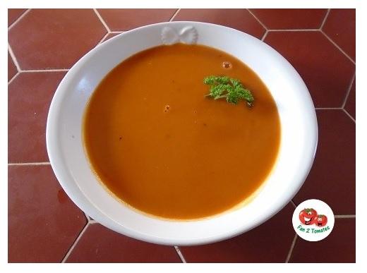 soupe PN pour une recette avec des tomates