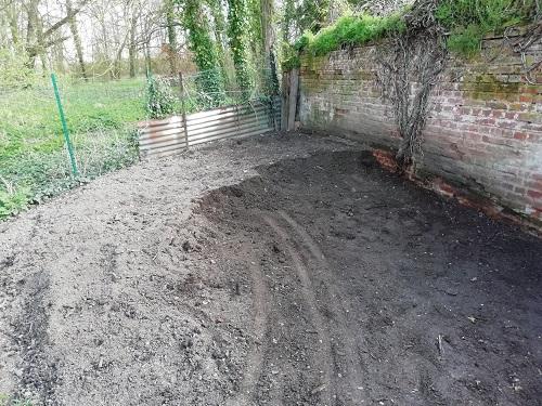 terreau pour agrandir le jardin