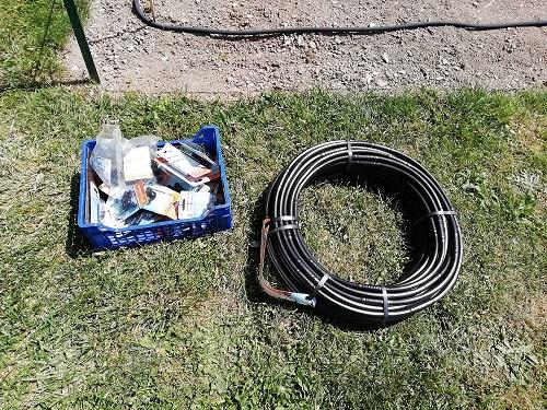 tuyau et accessoire pour installer le système arrosage