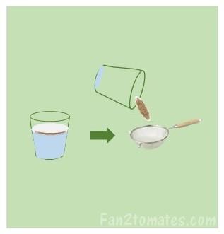 rinçage des graines