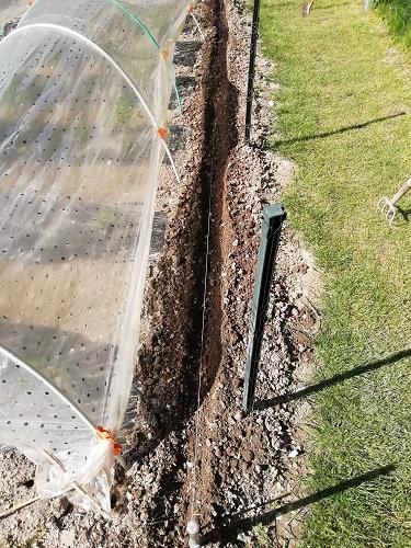 sillon creusé BE pour barrière naturelle